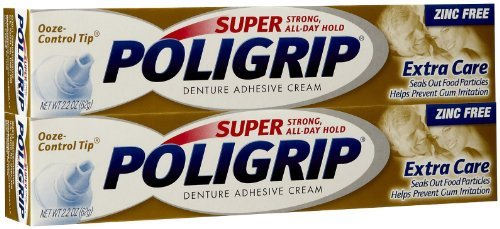 - Super Poligrip Extra Care Denture Adhesive Cream with Poliseal - 2.2 oz - 2 pk