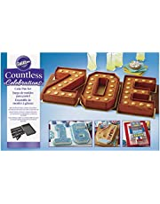 Wilton 2105-0801 Countless Celebrations Set, 10-Piece Letter and Number Cake pan, STD