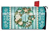 Briarwood Lane Coastal Wreath Summer Magnetic Mailbox Cover Nautical Standard