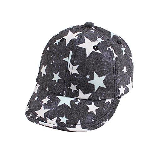 XIAOHAWANGStar Baby Caps Retro Baseball Sun Cap Spring Summer Hats for Boy Girls (Deep Gray) - Old Time Baseball Hats