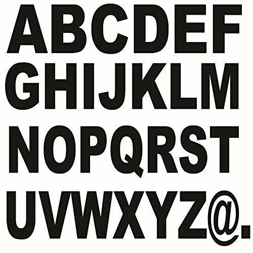 Buchstabenaufkleber 60 Stück Höhe 10cm Klebebuchstaben Farbe frei wählbar Werbung Reklame Buchstaben