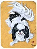 Caroline's Treasures MH1034LCB Japanese Chin Black White Play Glass Cutting Board, Large, Multicolor