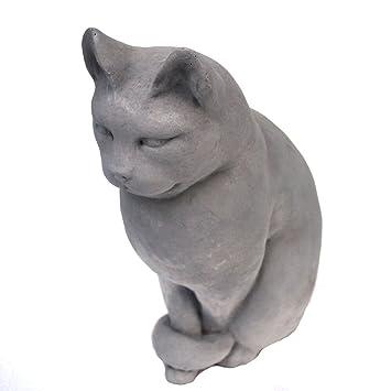 Sitting Cat Garden Statue 12u201dH