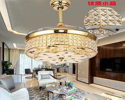 Lámpara LED de ventilador invisible, un moderno salón comedor ...