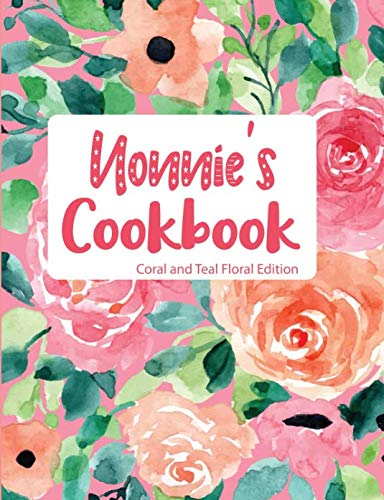 Nonnie's Cookbook Coral and Teal Floral Edition by Pickled Pepper Press