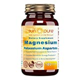 Sun Pure Premium Quality Magnesium Potassium Aspartate Tablets Glass Bottle 180 Count -Supports Cardiovascular & Nerve Function -Promotes Metabolic Energy Production -Supports Muscle Development