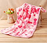 Hii-Yo Soft Warm Pet Blanket Cute Cozy Coral Fleece for Puppy Small Dogs Cats (Heart, L)