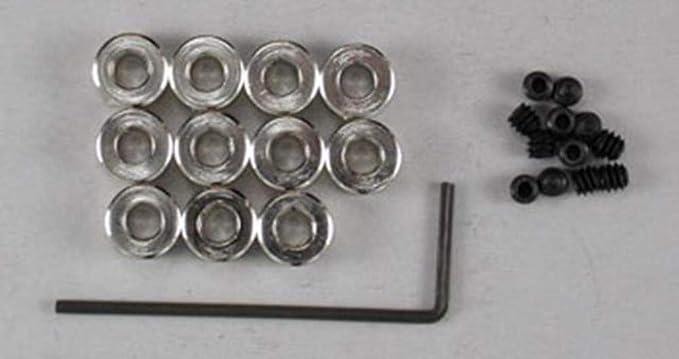 12-Pack Du-Bro 598 5//32 Plated Brass Dura-Collar Bulk