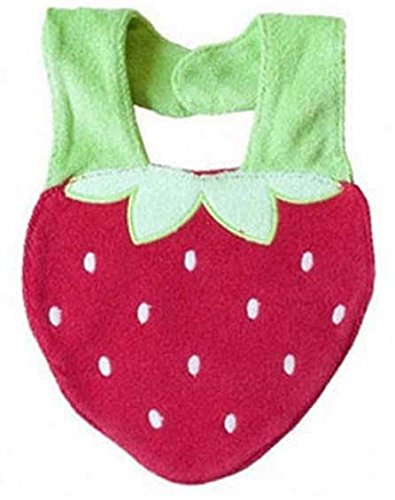Lil Oopsies Bibs for Toddlers - Premium Quality, 3 Layered Absorbent & Waterproof Teething, Feeding & Drooling Bibs. Unique Baby Shower Gift for Girls. Suitable for Husky Babies to Toddlers-Strawberry (Mud Pie Strawberry compare prices)
