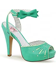 Pin Up Couture BETTIE-01 Women 4 1/2 Heel, 1 Semi Hidden Platform Peep Toe Ankle Strap Sandal