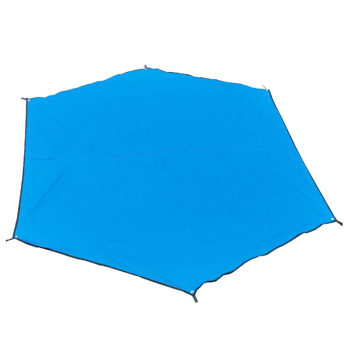 TRIWONDER Waterproof Hexagonal Hammock Rain Fly Tent Tarp Footprint Ground Cloth Camping Shelter Sunshade Beach Picnic Mat for Hiking Picnic (Blue - XL - Tarp Only) by TRIWONDER