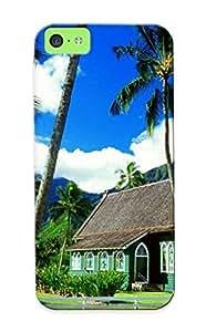 Inthebeauty High-quality Durability Case For Iphone 5c(waioli Huiia Church Hanalei Kauai Hawaii)
