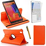 360 Degree Rotating Cover Case for Samsung Galaxy Tab Pro 8.4 SM-T320/T325/T321 With Screen Protector and Stylus Galaxy tab Pro 8.4 SM-T320 case From Sheath™ [ Do not Fit Galaxy Tab 3 8 SM-T310 ] (Orange)
