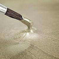 METALLIC FOOD PAINT - ELFENBEIN - 25 ml - Essbar Lebensmittel Farbe Rainbow Dust + Ausstechform (Bundle)