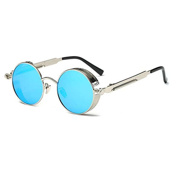 1x paio LENTI per Occhiali Steampunk Goggles colore BLUE Abbigliamento e accessori Carnevale e teatro