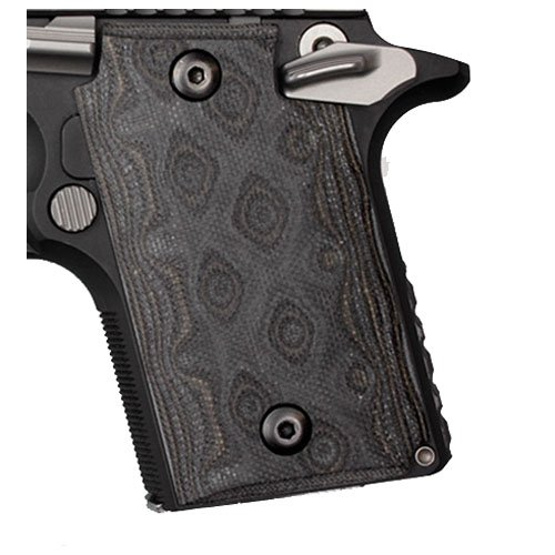 Hogue Sig P938 Ambidextrous Extreme Series Grip, G10 G-Mascus, Black/Gray by Hogue