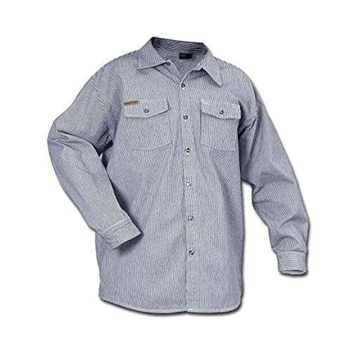 Long Sleeve button front hickory shirt,Medium ()