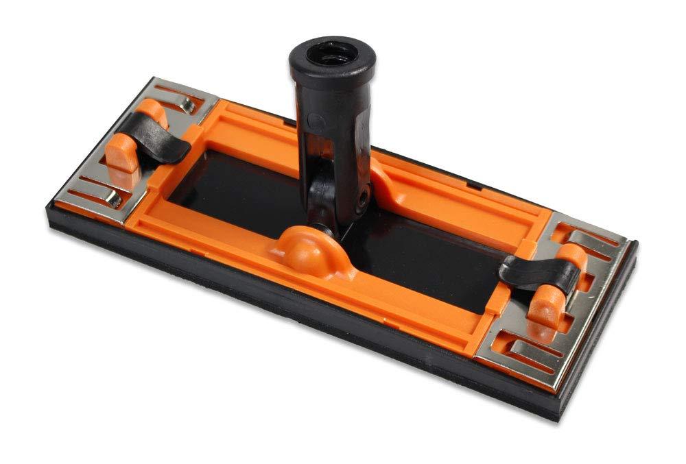 Vetrineinrete/® Supporto per carta vetrata con attacco girevole per palo di estensione 225x85 mm smerigliatrice manuale levigatrice smerigliatore a mano con base in spugna e morsetti M3