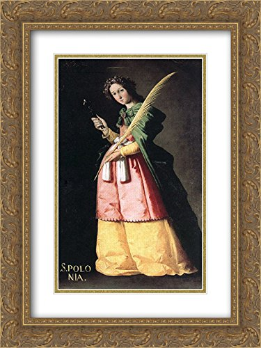 Francisco de Zurbaran 2x Matted 18x24 Gold Ornate Framed Art Print 'St. - Galleria St