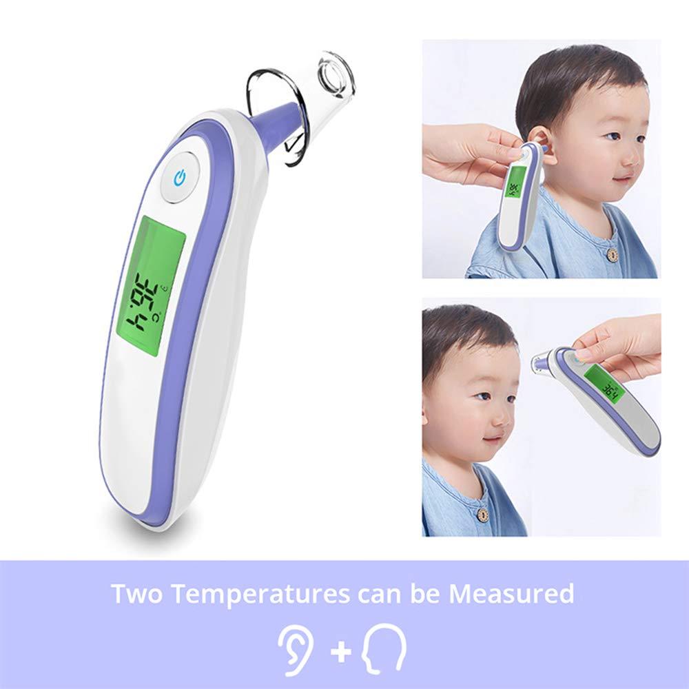 GUOYIHUA Term/ómetro port/átil para el cuerpo con fiebre infantil Term/ómetro digital sin contacto con pantalla de cristal l/íquido para adultos Beb/és Mascotas