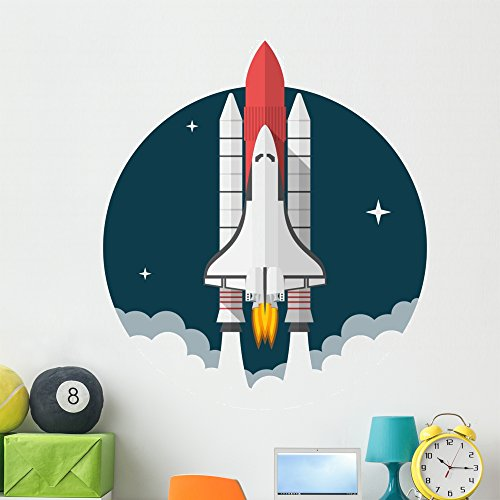 (Wallmonkeys Space Shuttle Wall Decal Peel and Stick Graphic (48 in H x 48 in W) WM58455)