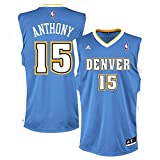 Carmelo Anthony Denver Nuggets NBA Adidas Men's Blue Replica Jersey (M)