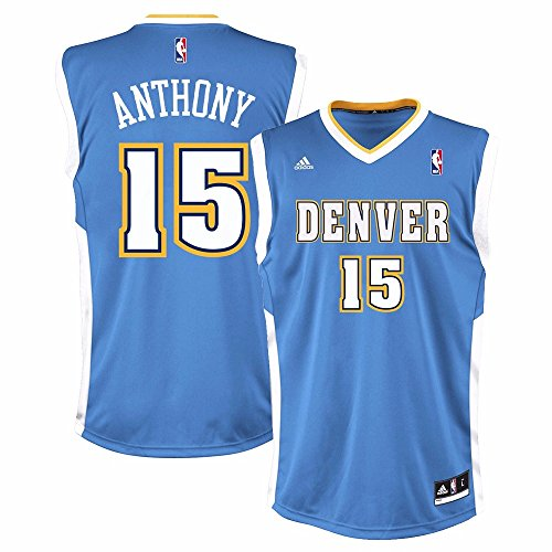 Carmelo Anthony Denver Nuggets Nba Adidas Mens Blue Replica Jersey  Xl
