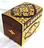 Handmade Wood Boxes with Straw Application from Belarus-One of a kind