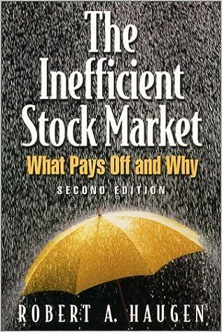 Book The Inefficient Stock Market [2001] (Author) Robert A. Haugen