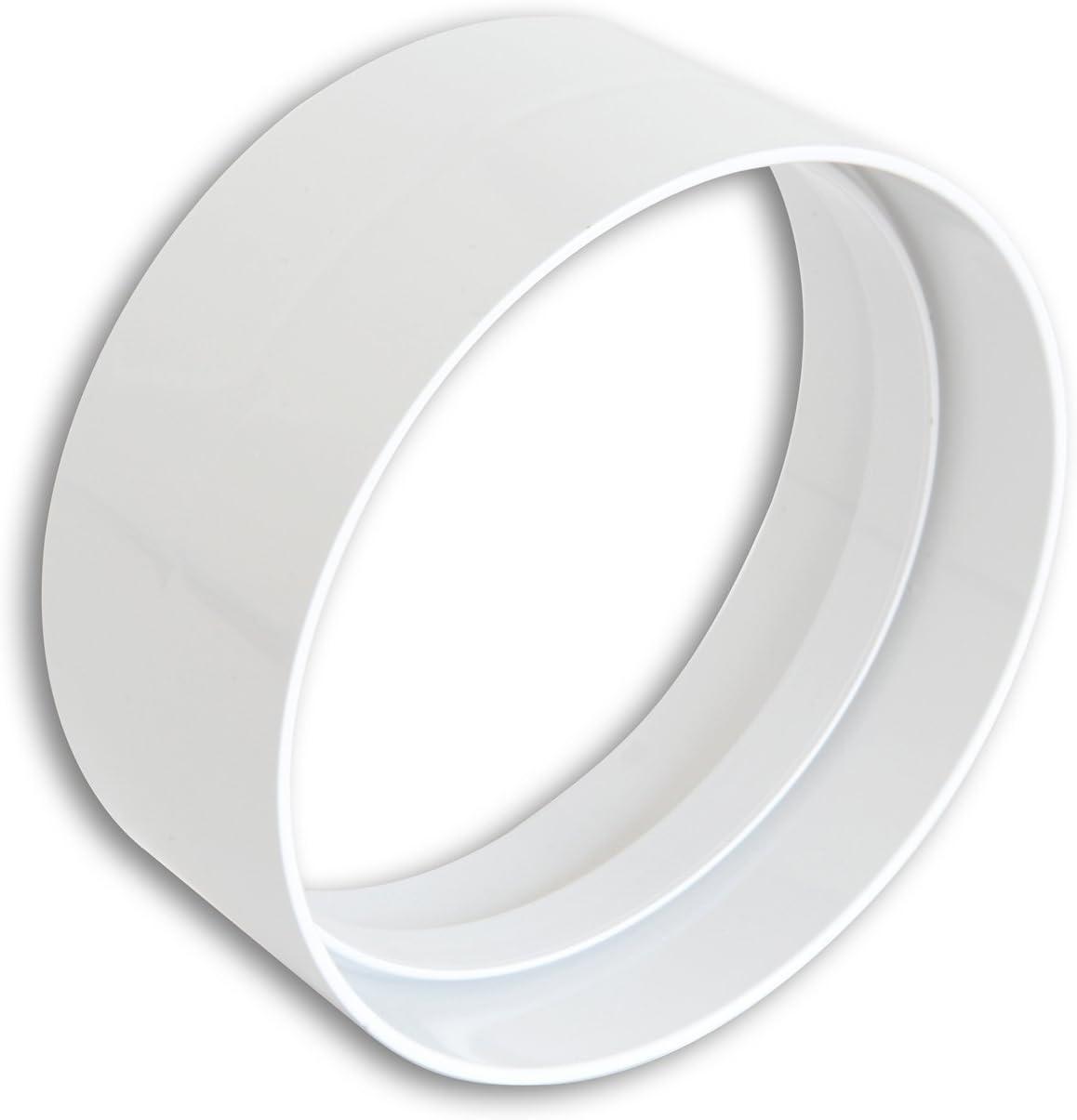 Junta diámetro 125 mm para ventilación canalizzata Campana Cocina Apto para tubos de ventilación de tipo redondo de PVC color blanco: Amazon.es: Bricolaje y herramientas
