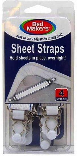 Amazon Com Bed Maker S Sheet Straps 4 Strap Set Home Kitchen