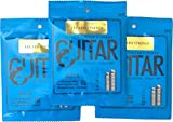 Guitar Strings Electric ( 3 Sets) VIGOROUS, CLEAR TONE Nickel Wound Super Light By Legato