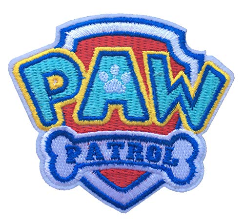 Application Cartoon Classic Paw Patrol Logo Cosplay Badge Embroidered Iron or Sewn-On Applique Patch -