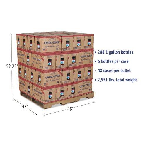 Alpine Spring Water, 1 Gal Bottle, 6/Case, 48 Cases/Pallet