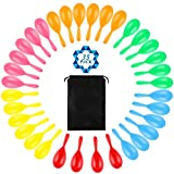SOTOGO 34 Pack Neon Maracas Shakers Mini Noisemaker Bulk Colorful Noise Maker With Drawstring Bag For Mexican Fiesta Party Favors Classroom Musical Instrument,4 Inch,6 Color