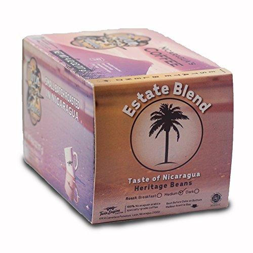 Twin Engine Coffee Estate Blend Dark Roast 36 capsules, Keurig 2.0 compatible, Nicaragua's Coffee
