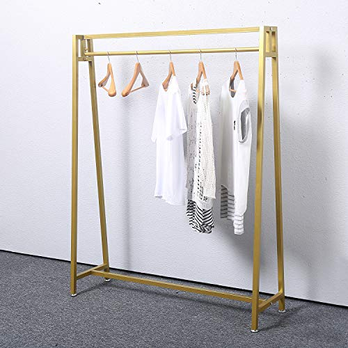 MBQQ Moden Metal Clothes Rack with Clothing Hanging Rack Organizer for Laundry Drying Rack Display Racks Garment Racks,Golden from MBQQ