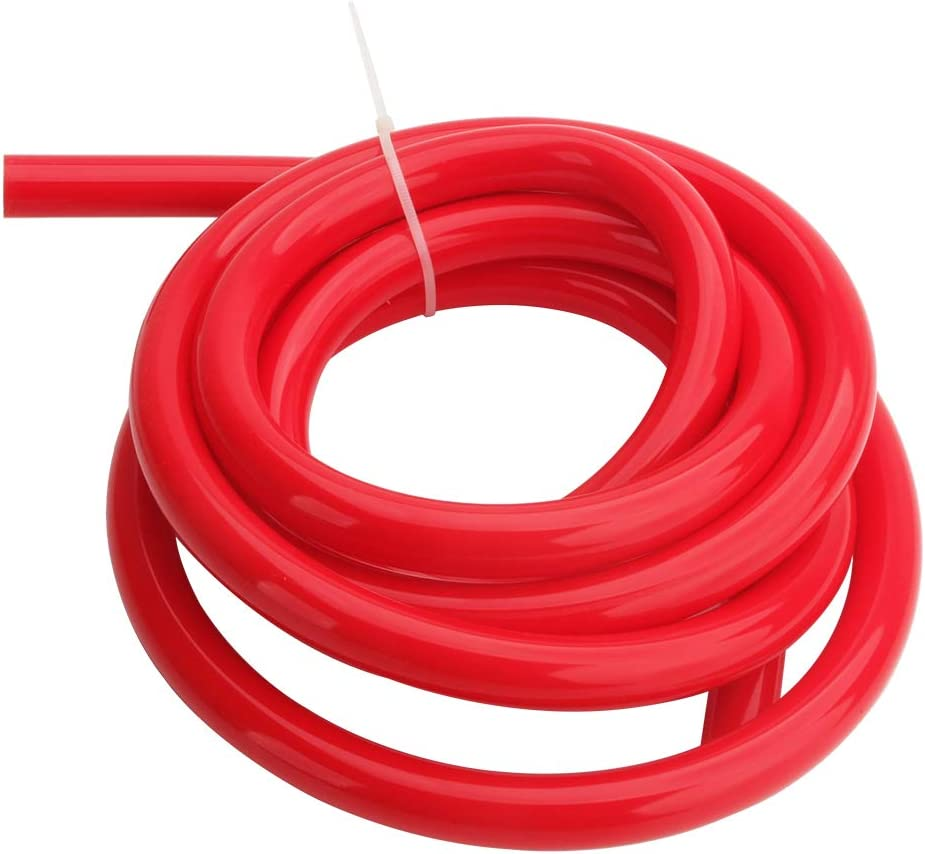 Hiwowsport High Performance High Temperature Silicone Vacuum Tubing Hose ID:4MM Red Color