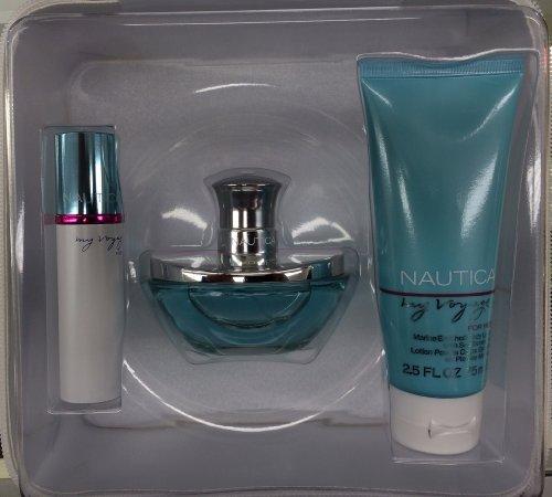 Nautica My Voyage Coffret: Eau De Parfum Spray 50ml/1.7oz + Body Lotion 75ml/2.5oz + Purse Spray+bag by Nautica