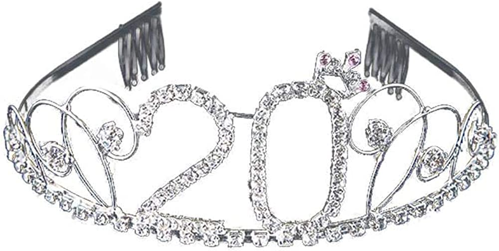 Doitsa 1 St/ück Kristall Geburtstag Tiara Prinzessin Krone Diamante Haar-Zus/ätze f/ür 16//18//20//21//22//30//40//50//60//70//80//90//100 Geburtstag