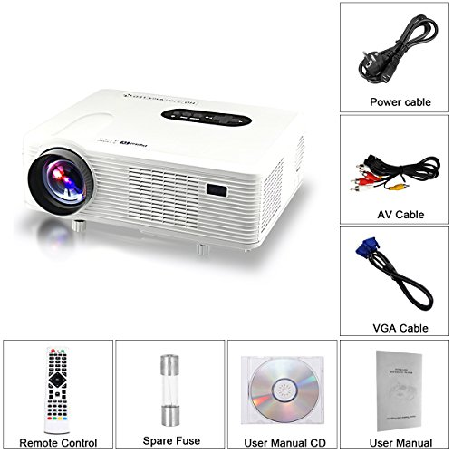 Excelvan - cl720d - Videoproyector LED con 3000 lúmenes (1080P ...