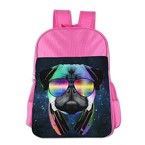 Cool Pug With Headphone Boys & Girls Backpack School - Pugs Prices Sunglasses