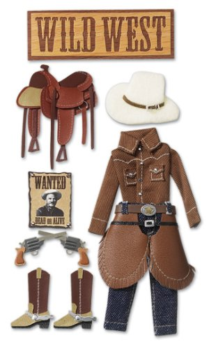 Jolee's Boutique Harvest Le Grande Dimensional Stickers, Cowboy (Homemade Cowboys And Indians Costumes)
