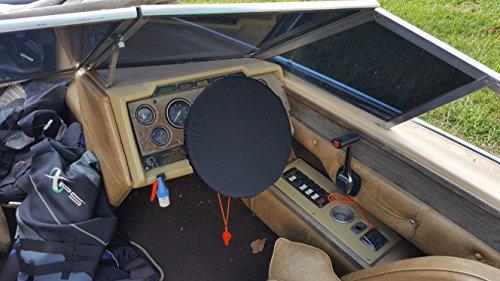 Wheel Boat Steering Covers (Boat Steering Wheel Cover (Black))