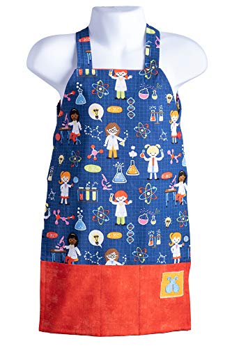 - Bailey Bug Toddler STEM Science on Blue Play Apron for Girls and Boys Arts, Crafts, Experiments and Kitchen Fun (Large)