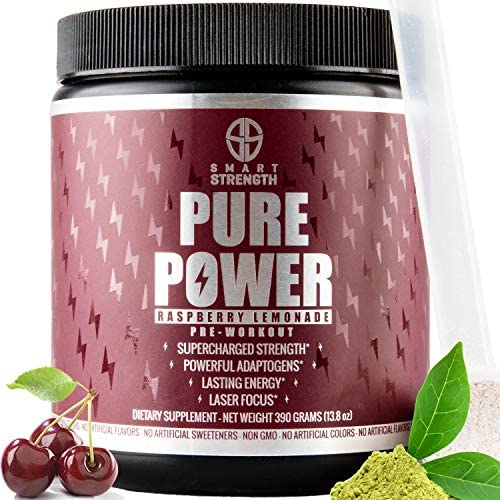 Pre Workout, Best All Natural Keto PreWorkout Supplement. PURE POWER, Healthy Pump, Clean, Vegan, Paleo, Thermogenic Pre Work Out Powder for Men Women, Weight Loss Energy – 390g Raspberry Lemonade