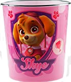 Girls Pink Skye Paw Patrol Children's Bedroom Waste Paper Bin