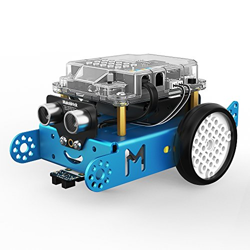 Makeblock mBot 1.1 Kit - STEM Education - Arduino - Scratch 2.0 - Programmable Robot Kit for Kids to Learn Coding, Robotics and Electronics - Blue(Bluetooth Version - Family Prefer)