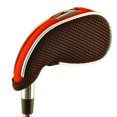 WeatherWick Golf Club Iron Head Covers - RED - Universal Fit for Most Irons and Wedges by Callaway, Taylormade, Nike, Titleist, Ping, Mizuno, Cobra, and Cleveland (Set of 8 Head Covers)