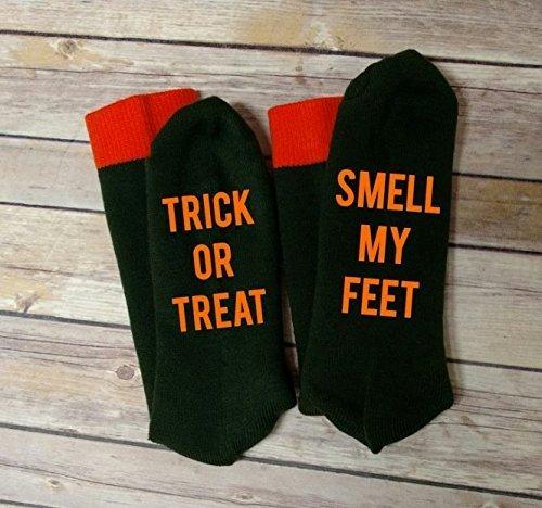 Halloween Trick or Treat Smell My Feet Men Socks -